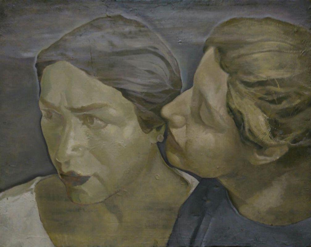 Mina & Azar   / 35X45 cm / Mixed media on canvas